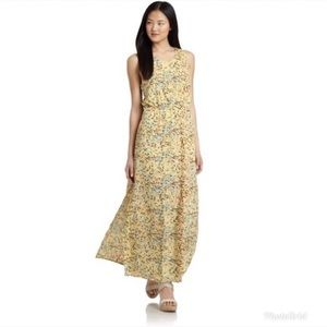 W118 by Walter Baker Yellow Printed Maxi Dress